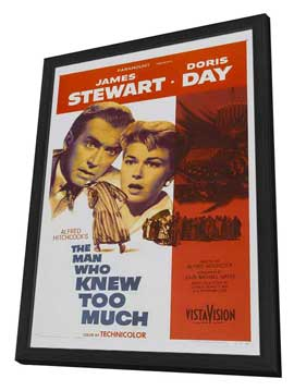 The Man Who Knew Too Much - 11 x 17 Movie Poster - Style A - in Deluxe Wood Frame
