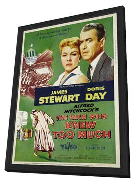 The Man Who Knew Too Much - 27 x 40 Movie Poster - Style B - in Deluxe Wood Frame