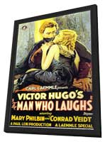 The Man Who Laughs - 11 x 17 Movie Poster - Style A - in Deluxe Wood Frame