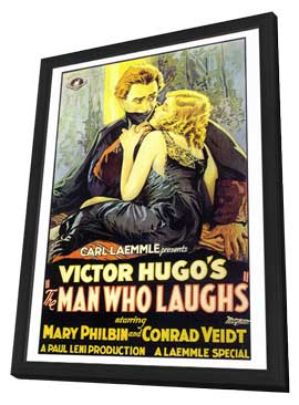 The Man Who Laughs - 27 x 40 Movie Poster - Style A - in Deluxe Wood Frame