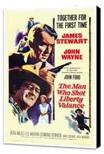Man Who Shot Liberty Valance, The - 27 x 40 Movie Poster - Style A - Museum Wrapped Canvas