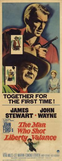 Man Who Shot Liberty Valance, The - 14 x 36 Movie Poster - Insert Style A