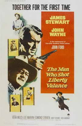 Man Who Shot Liberty Valance, The - 27 x 40 Movie Poster - Style B