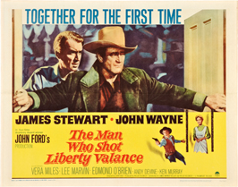 Man Who Shot Liberty Valance, The - 22 x 28 Movie Poster - Half Sheet Style A