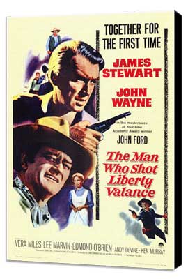 Man Who Shot Liberty Valance, The - 11 x 17 Movie Poster - Style A - Museum Wrapped Canvas