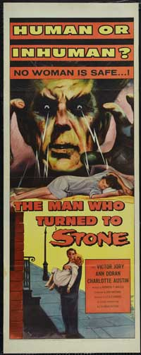 The Man Who Turned to Stone - 14 x 36 Movie Poster - Insert Style A
