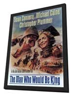 The Man Who Would Be King - 27 x 40 Movie Poster - Style B - in Deluxe Wood Frame