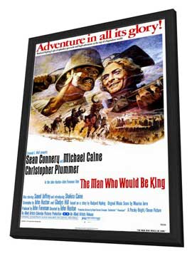 The Man Who Would Be King - 27 x 40 Movie Poster - Style A - in Deluxe Wood Frame