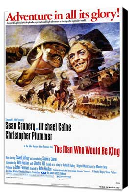 The Man Who Would Be King - 27 x 40 Movie Poster - Style A - Museum Wrapped Canvas