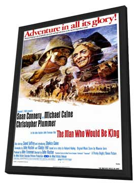The Man Who Would Be King - 11 x 17 Movie Poster - Style A - in Deluxe Wood Frame