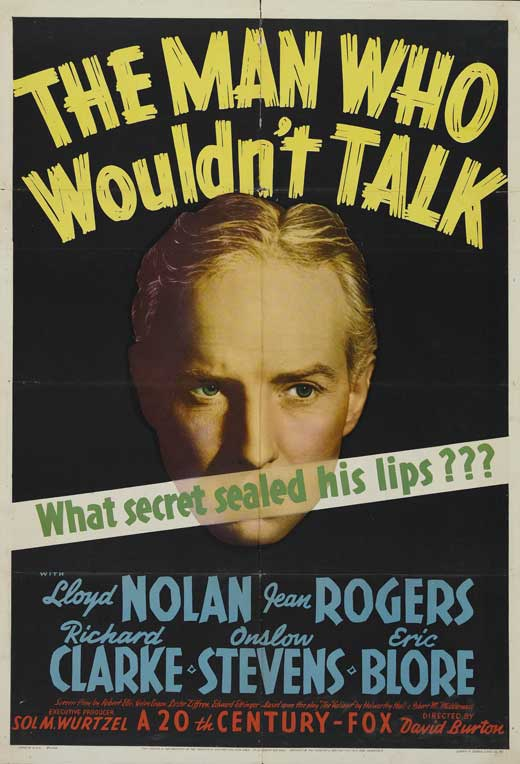 The Man Who Wouldn't Talk movie