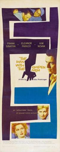 The Man with the Golden Arm - 14 x 36 Movie Poster - Insert Style A