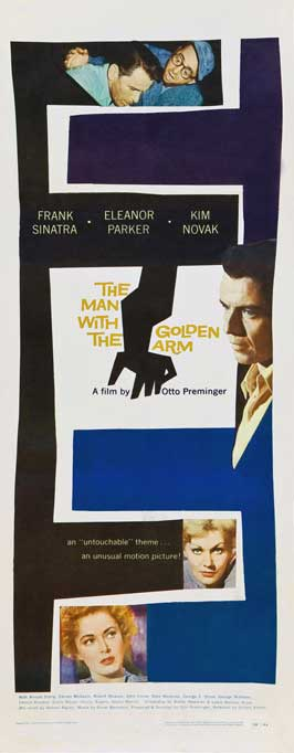 The Man with the Golden Arm - 14 x 36 Movie Poster - Insert Style B