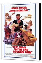 The Man with the Golden Gun - 27 x 40 Movie Poster - Style B - Museum Wrapped Canvas