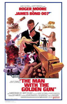 The Man with the Golden Gun - 11 x 17 Movie Poster - Style B