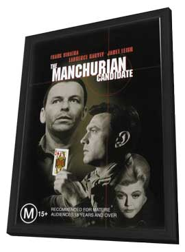 The Manchurian Candidate - 11 x 17 Movie Poster - Style D - in Deluxe Wood Frame
