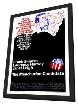 The Manchurian Candidate - 27 x 40 Movie Poster - Style A - in Deluxe Wood Frame