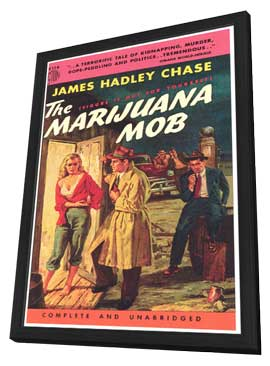 The Marijuana Mob - 11 x 17 Retro Book Cover Poster - in Deluxe Wood Frame