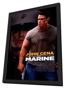 The Marine - 27 x 40 Movie Poster - Style A - in Deluxe Wood Frame