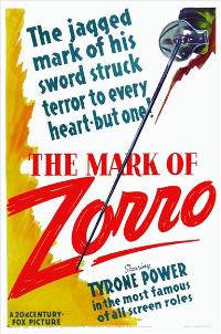 The Mark of Zorro - 27 x 40 Movie Poster - Style B