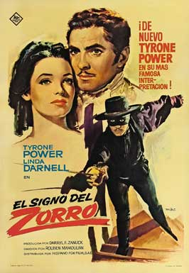 The Mark of Zorro - 27 x 40 Movie Poster - Spanish Style A