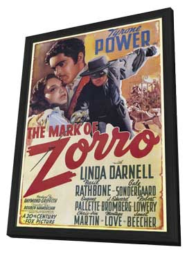 The Mark of Zorro - 11 x 17 Poster - Foreign - Style A - in Deluxe Wood Frame