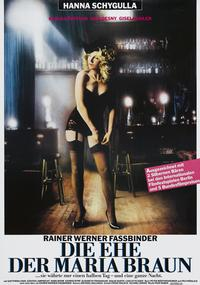 The Marriage of Maria Braun - 11 x 17 Movie Poster - German Style B