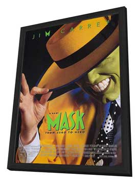 The Mask - 11 x 17 Movie Poster - Style A - in Deluxe Wood Frame