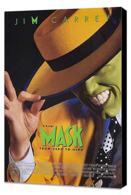 The Mask - 11 x 17 Movie Poster - Style A - Museum Wrapped Canvas