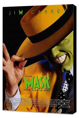 The Mask - 27 x 40 Movie Poster - Style A - Museum Wrapped Canvas