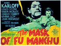 The Mask of Fu Manchu - 11 x 17 Movie Poster - Style B