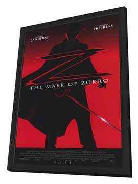 The Mask of Zorro - 11 x 17 Movie Poster - Style A - in Deluxe Wood Frame