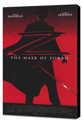 The Mask of Zorro - 11 x 17 Movie Poster - Style A - Museum Wrapped Canvas