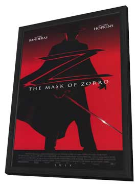 The Mask of Zorro - 27 x 40 Movie Poster - Style A - in Deluxe Wood Frame