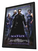 The Matrix - 11 x 17 Movie Poster - Style A - in Deluxe Wood Frame