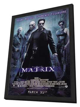 The Matrix - 11 x 17 Movie Poster - Style D - in Deluxe Wood Frame