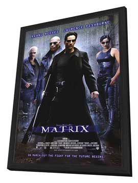 The Matrix - 27 x 40 Movie Poster - Style A - in Deluxe Wood Frame