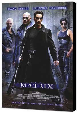 The Matrix - 27 x 40 Movie Poster - Style A - Museum Wrapped Canvas