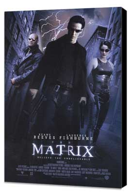 The Matrix - 27 x 40 Movie Poster - Style B - Museum Wrapped Canvas