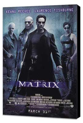 The Matrix - 27 x 40 Movie Poster - Style C - Museum Wrapped Canvas