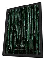 The Matrix Reloaded - 27 x 40 Movie Poster - Style C - in Deluxe Wood Frame