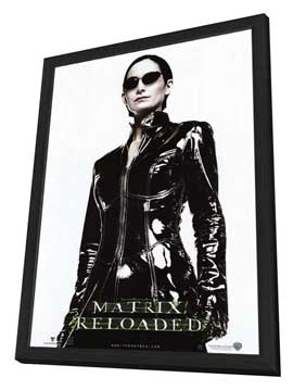 The Matrix Reloaded - 11 x 17 Movie Poster - Style G - in Deluxe Wood Frame