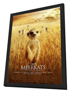 The Meerkats - 27 x 40 Movie Poster - UK Style A - in Deluxe Wood Frame