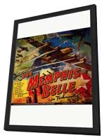 The Memphis Belle: A Story of a Flying Fortress - 27 x 40 Movie Poster - Style B - in Deluxe Wood Frame