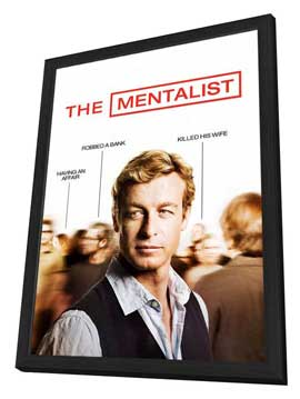 Mentalist, The - 11 x 17 Movie Poster - Style A - in Deluxe Wood Frame