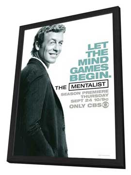 Mentalist, The - 11 x 17 Movie Poster - Style B - in Deluxe Wood Frame