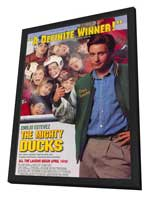 The Mighty Ducks - 27 x 40 Movie Poster - Style A - in Deluxe Wood Frame