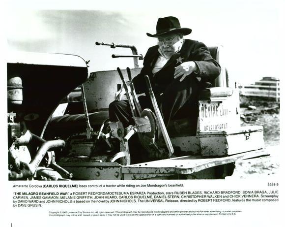 milagro beanfield war Official theatrical movie poster for the milagro beanfield war (1988) directed by  robert redford starring rubén blades, sonia braga, james.