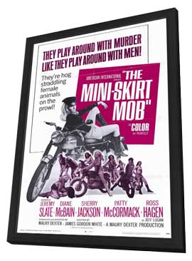 The Mini Skirt Mob - 27 x 40 Movie Poster - Style A - in Deluxe Wood Frame