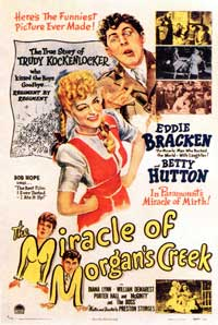 The Miracle of Morgans Creek - 11 x 17 Movie Poster - French Style A